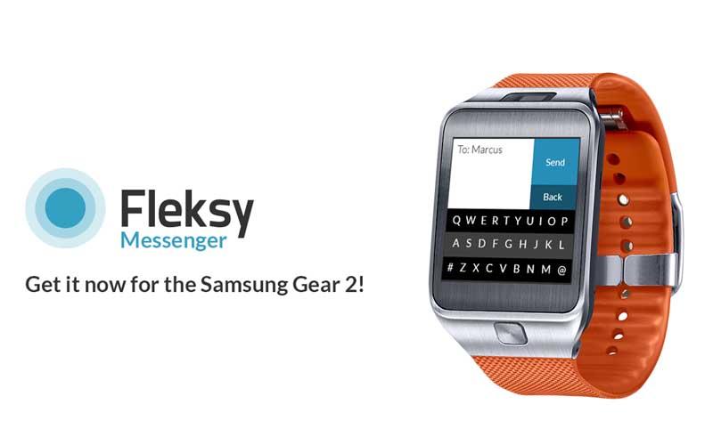 Fleksy llega al smartwatch Samsung Gear 2