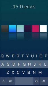 15 opciones de color para el teclado Fleksy