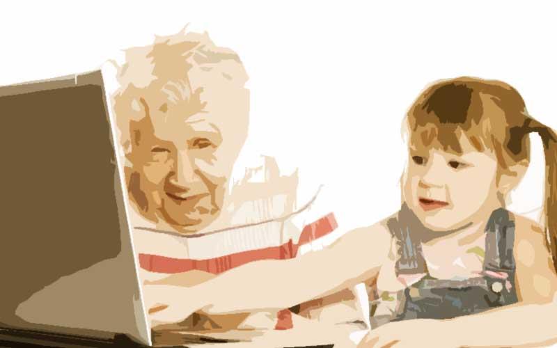 Dos generaciones que conviven en el mismo tiempo y espacio